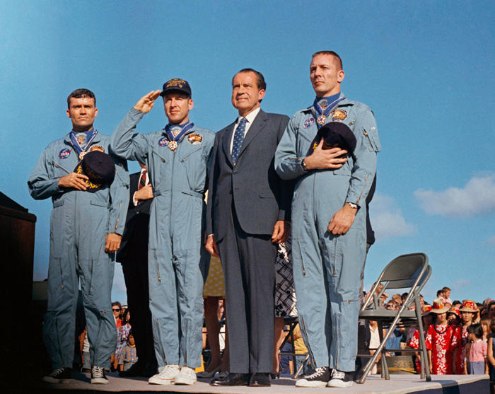 President Nixon and the crew of Apollo XIII