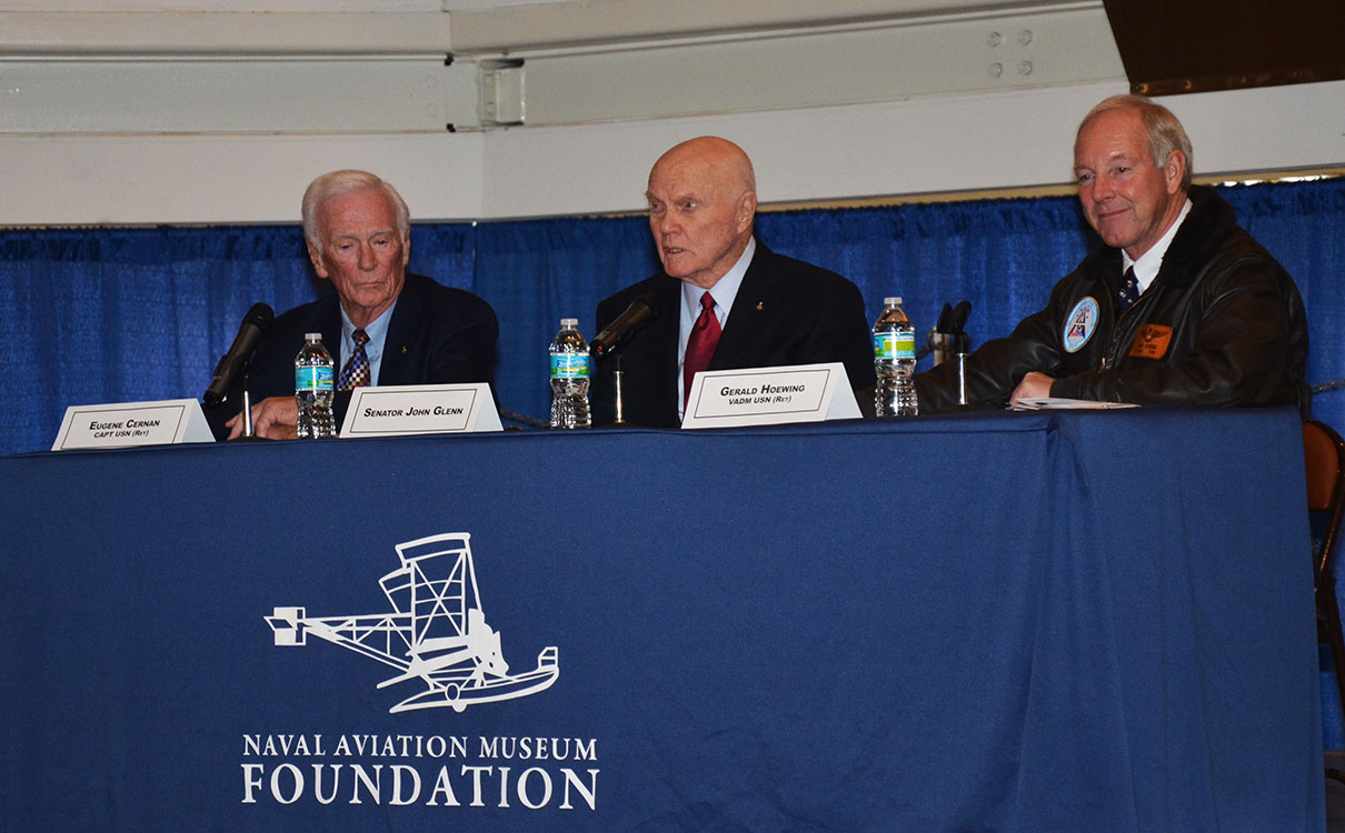 Gene Cernan and John Glenn