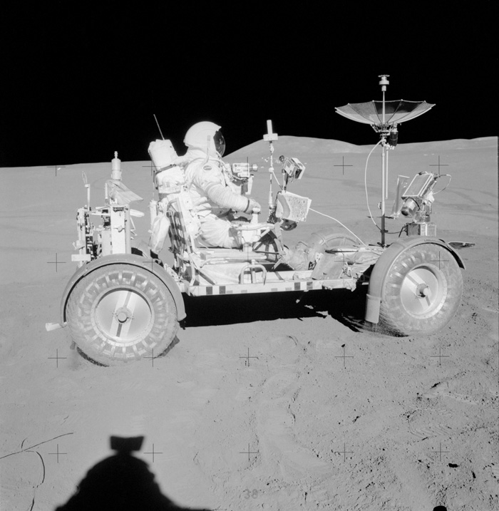 David Scott in the Lunar Roving Vehicle