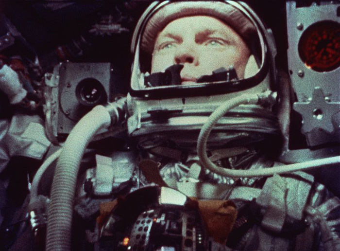 John Glenn aboard Friendship 7
