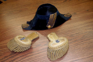 William Billingsley Fore and Aft Hat and Epaulettes