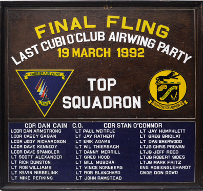 Final Fling Plaque